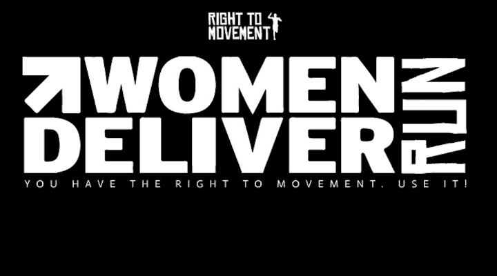Right to Movement plakat for Women Deliver løb